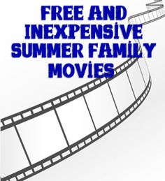 Free and Inexpensive Summer Family Movie Series at Columbus - both outdoor community movies and in theater, as well as a couple at local pools! {Summer 2013}