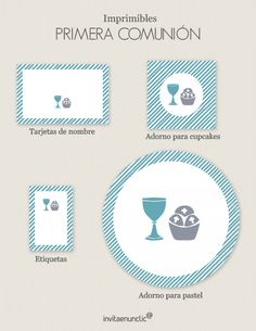 Colección de imprimibles Cáliz para comunión | Invitaenunclic