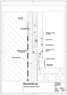 Oberlicht detail dwg  Vertcal Section CW-Façade Harbour-Site | Узлы / ФП / сечения ...