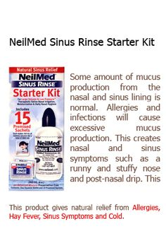 Clear your nasal passage for uninterrupted breath with NeilMed Sinus Rinse Starter Kit