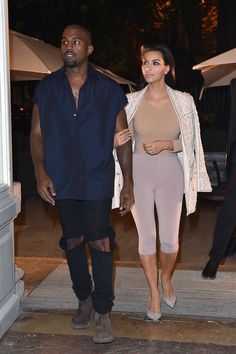 Kim Kardashian at the Balmain after party with Kanye West in Paris