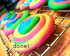Rainbow pinwheel sugar cookies, tute and recipe. How fun!