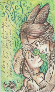 Two different worlds by Sharkie-19 < I usually don't like the humans portrayed as part dragon but this Hiccstrid fanart is beautiful. :)