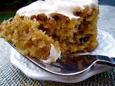 Stephanie Cooks: Spiced Applesauce Cake with Cinnamon Cream Cheese Frosting