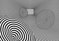 wallpaper op art deformed balls by Lukasz Niemczyk, via Behance