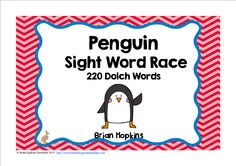 Penguin Sight Word Race is a sight word board game for winter or would work when learning about birds where your students read a sight word and then roll one die (dice) and move that many spaces on the game board. There are some fun cards that will tell y