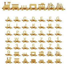 toy train vector images {also in different colors}