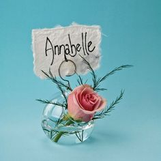 Place Card Vase (small glass ball and wire design)