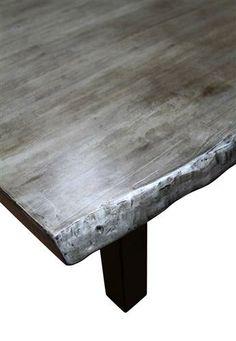 48e92b60826a Cosmos Silver   Black Live Edge Dining Table  flea pop