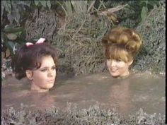 Gilligan catches Ginger and Maryanne taking a mud bath together. Giligans Island, Island Girl, Mary Ann And Ginger, Ginger Grant, Mudding Girls, Hogans Heroes, Mud Bath, Tina Louise, Old Tv Shows