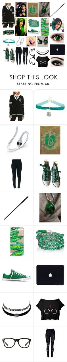 """""""Harry Potter RP (School Uniform/Everyday Wear)"""" by jaguarwood ❤ liked on Polyvore featuring Warner Bros., Anne Sisteron, Converse, Radcliffe, Casetify, Sif Jakobs Jewellery, Max Factor, GET LOST and Charlotte Russe"""