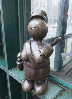 Policewoman Statue by Tom Otterness