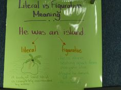 "Figurative vs Literal meaning. The sentence comes from ""There's a Boy in the Girl's Bathroom."""