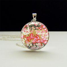 Japan Garden Photo Glass Tile Pendant BFF Best by joannajewelry, $10.95