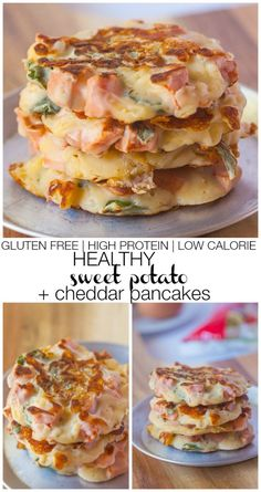 Healthy Sweet potato and cheddar pancakes.