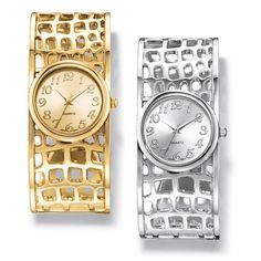 Ladies glamorous open back cuff watch with little square open work cut-out design. Regularly $24.99, buy Avon Jewelry online at http://eseagren.avonrepresentative.com
