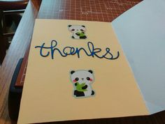 Inside to panda card
