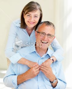 older couple pose