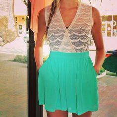 Jade Green Romper! Shopellableu.com