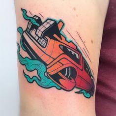 "DeLorean Tattoo by Gennaro Varriale (Gery) (@gennarovarrialetattoo) on Instagram: ""Back to the Future  DeLorean thanks Emanuele! @areaindustrialeroma  #areaindustrialetattoo…"""