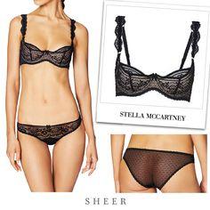 Stella McCartney OPHELIA WHISTLING UNDERWIRE BRA from SHEER BIKINI:https://sheer.com.hk/collections/new/products/ophelia-whistling-lace-bikini