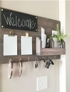 Build Your Own - Galvanized System Components - Home organization - Dekoration Decoration Hall, Decoration Bedroom, Decor Room, Kitchen Wall Decorations, Decorations For Home, Kitchen Decor, Kitchen Design, Farmhouse Side Table, Farmhouse Decor
