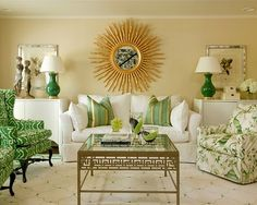 Traditional Living Room Green And Purple Living Room Design Ideas, Pictures, Remodel, and Decor - page 2 Living Room Green, Paint Colors For Living Room, Green Rooms, Formal Living Rooms, Home And Living, Living Room Decor, Living Spaces, Modern Living, Living Area