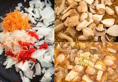 TOCANITA VEGANA DIN TREI FELURI DE CIUPERCI | Diva in bucatarie Tasty Vegetarian Recipes, Stuffed Mushrooms, Vegetables, Food, Stuff Mushrooms, Essen, Vegetable Recipes, Meals, Yemek