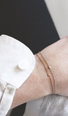 double solitaire bracelets / Vrai & Oro