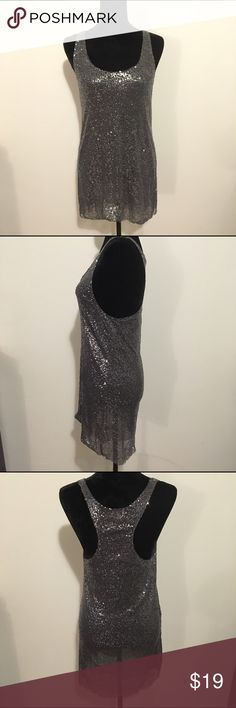 "Sale! Victoria's Secret sequined mini dress Victoria's Secret sequined mini dress featuring racerback. Is slightly sheer as seem in mannequin pictures.  🌟Size- Women's S 🌟Flat Measurements- 16"" bust 33"" from top of shoulder to hem 🌟Material- 100% nylon 🌟Condition- Excellent! No flaws noted Victoria's Secret Dresses Mini"