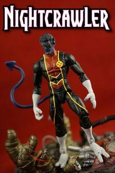 Nightcrawler (Marvel Legends) Custom Action Figure by Charles Chop Base figure: Hawkeye
