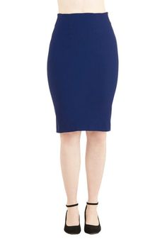 I'll Have the Usual Skirt in Royal Blue. While some things never change, like your favorite cocktail, you cant say the same for the look of this versatile royal-blue skirt! #gold #prom #modcloth