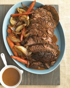 Slow-Cooker Pot Roast. This recipe has directions for the oven or slow cooker. Doesn't this look delicious??!!