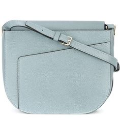 Valextra 'Twist' Crossbody Bag ($1,980) ❤ liked on Polyvore featuring bags, handbags, shoulder bags, blue handbags, valextra, blue purse, crossbody shoulder bag and crossbody handbags