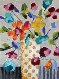 "ORIGINAL | ""Floriated #4"" (#4 of 8 in series) - Donna Downey Studios Inc - 2"