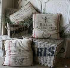 French jardin pillows, love.