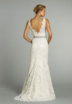 I do not like poofy wedding dresses (for myself).  I want something simple, elegant, lacy, and flowy.  Nothing big.