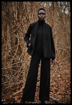 Model Nyamuoch Girwath in VOZ AW16. Photographed: John Beecroft ] Creative Director: Nadine Trad ] Styling, Art, Fashion, Photo, directing & Consulting: Vinny Michaud. Fall Winter Editorial Fashion by Stylist Vincent Michaud.  http://www.vincentmichaud.vision/editorialstyle/