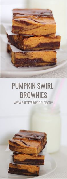 These pumpkin swirl brownies are UNREAL. You will not regret making these! prettyprovidence.com