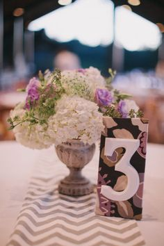 Table number - Woodside Wedding from Charmed Events Group + Taken By Light Photography
