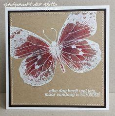 """Indigoblu """"big butterfly"""" stamp en tekststempel van Leuke Stempels"""