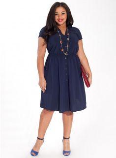 Sarah Dress in Navy