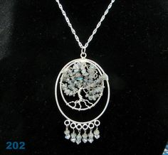 Labradorite Tree of Life wire wrapped pendant with by Krystalins, $65.00