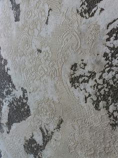 Wall #lace #plaster #finish