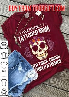Warning Tattooed Mom With Thick Thighs | Mom Gifts | Mom Shirts | Gifts For Mom | Gift Ideas For Mom – Fine Public Mom Gifts, Mother Gifts, Tattooed Mom, Presents For Mom, Mom Tattoos, Thick Thighs, Online Gifts, Shirts With Sayings, Best Mom