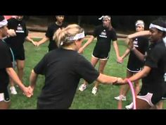 The Mississippi State Volleyball 2010 Team Building retreat - Hula Hoop Challenge.