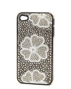 FLOWER JEWELED I PHONE 4 CASE  ACCESSORIES BY SUZANNE