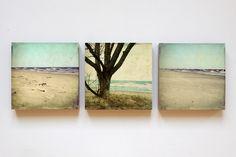 """""""Ostsee-Trio"""" Foto auf Holz 12 x 12 von fotomädchen auf DaWanda.com"""