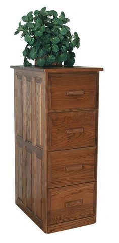 Made of solid hardwood, this American made filing cabinet features dovetail drawers for added strength, full extension drawer slides that have a weight capacity Wood File, Oak Plywood, Surface Art, Amish Furniture, Raised Panel, Cabinet Design, Types Of Wood, Solid Oak, Filing Cabinet