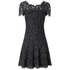 DVF Fifi A-line Lace Dress ($398) ❤ liked on Polyvore featuring dresses, grey melange, lace dress, a line dress, gray lace dress, diane von furstenberg and grey lace cocktail dress